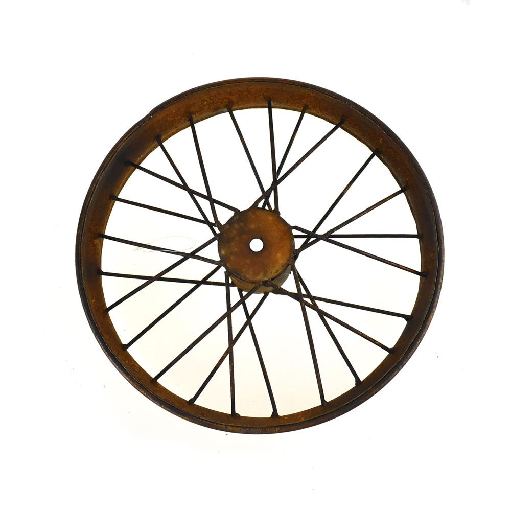 Rusty and Antique Themed Medium Bike Wheel, 16-Inch