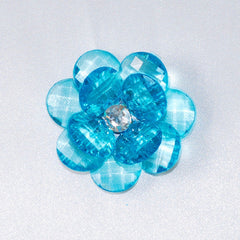Flower Crystal Lotus, Round Edge, 1-3/4-inch, 6-Piece