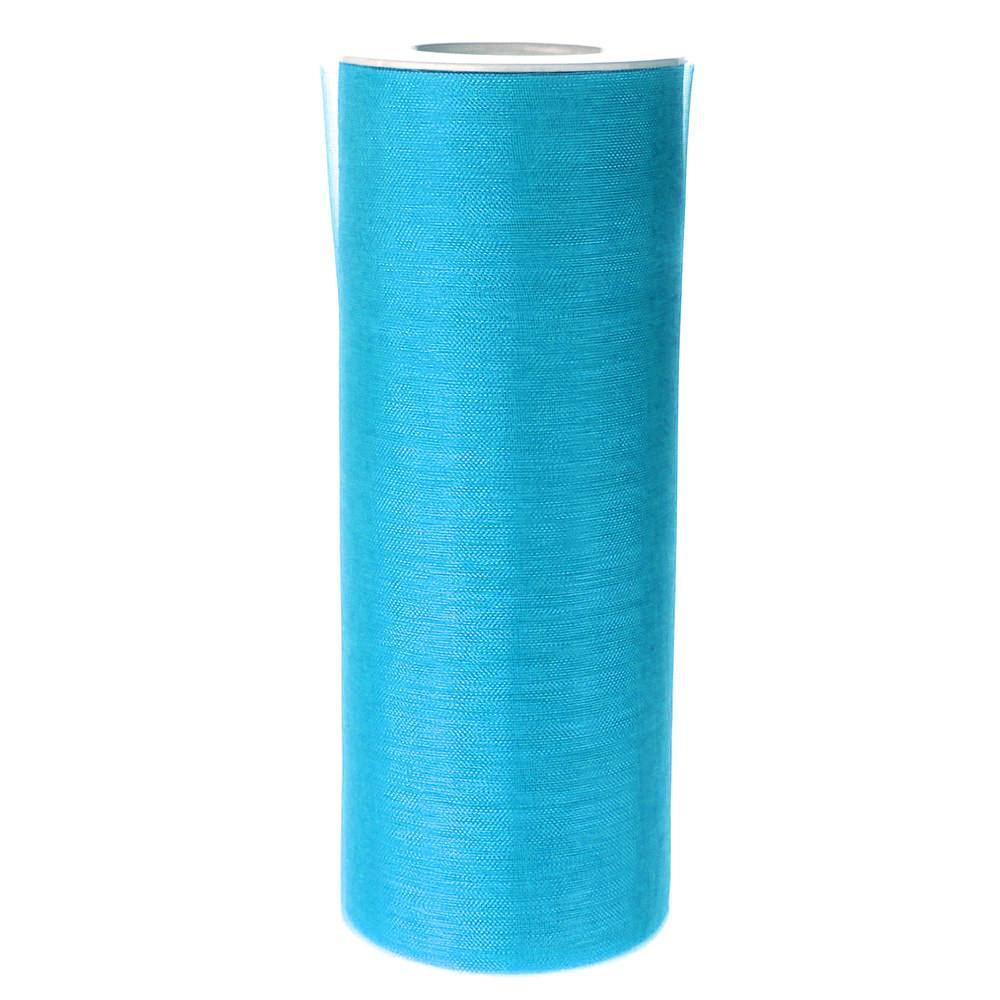 Organza Spool Roll, 6-Inch, 25 Yards, Turquoise