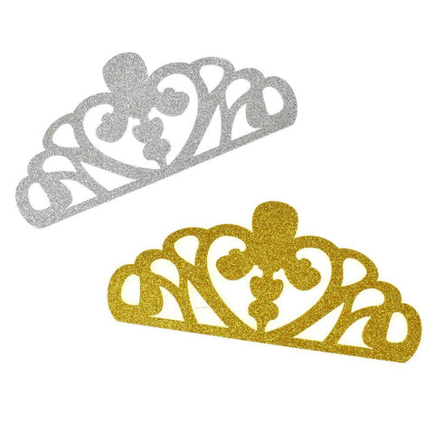 EVA Glitter Foam Tiara Crown Cut-Outs, 8-1/2-Inch, 10-Count