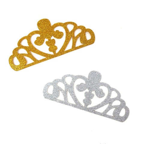 EVA Glitter Foam Tiara Crown Cut-Outs, 5-1/4-Inch, 10-Count