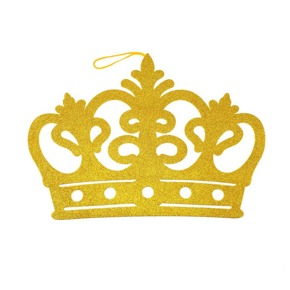 EVA Glitter Foam Royal Crown Cut-Outs, Gold, 22-1/2-Inch