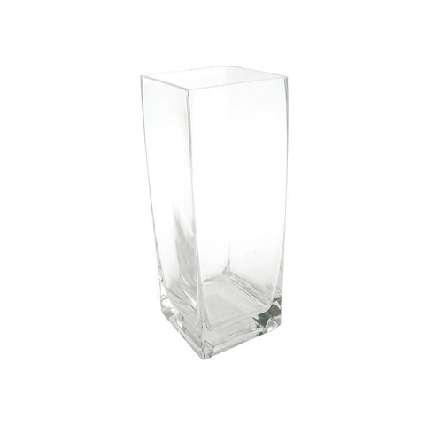 Tall Clear Rectangular Vase, 8-Inch [Closeout]