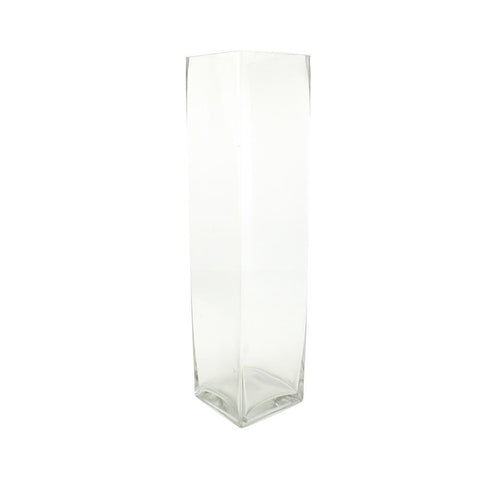 Tall Rectangular Glass Vase, 19-Inch [Closeout]