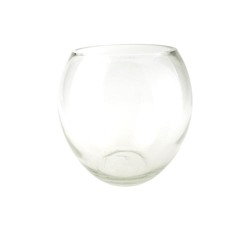 Oblong Bubble Glass Vase, 8-Inch [Closeout]