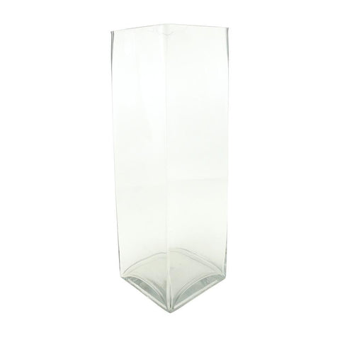 Tall Rectangular Glass Vase, 19-1/2-Inch [Closeout]