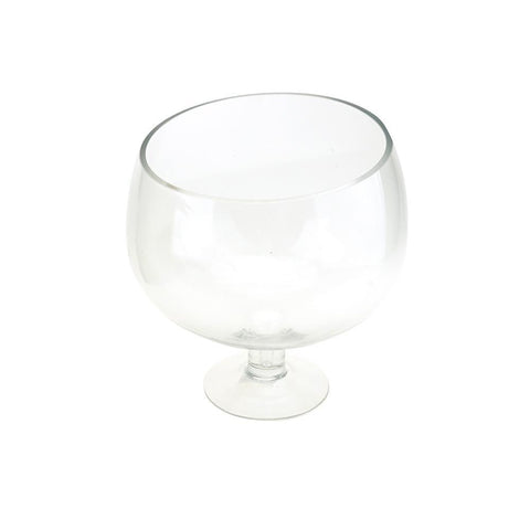 Clear Slant Cut Bowl Vase, 8-1/2-Inch [Closeout]