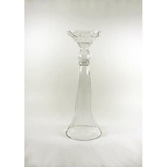 Clear Reversible Trumpet Glass Floral Vase Centerpiece