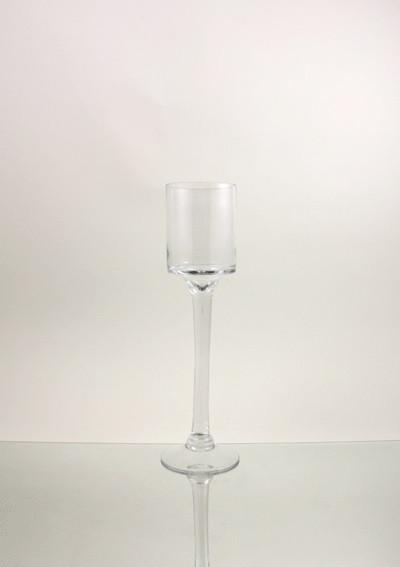 Tall Glass Cup Vase Tealight Candle Holder Table