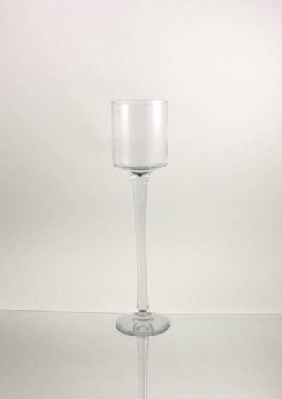Tall Glass Cup Candle Holder Table Centerpiece, 20-Inch