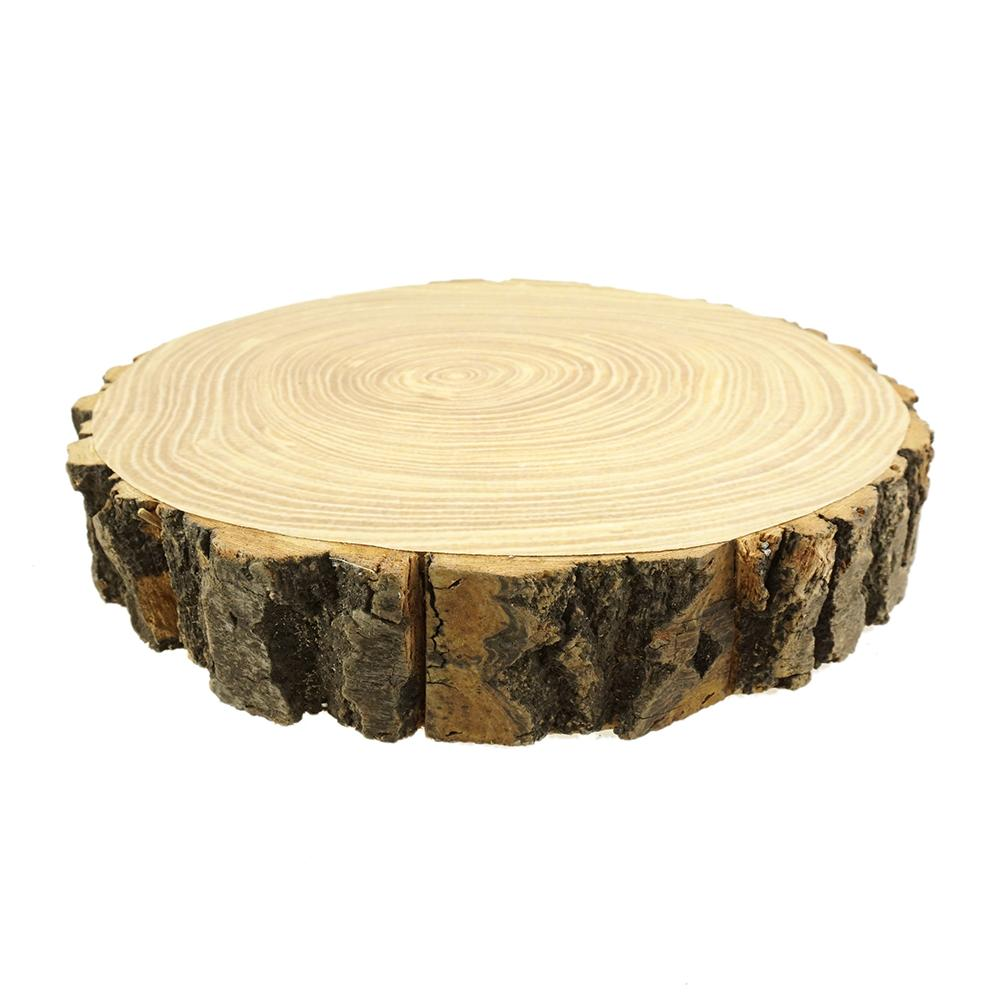Rustic Wood Tree Slice with Bark, 11-1/2-Inch