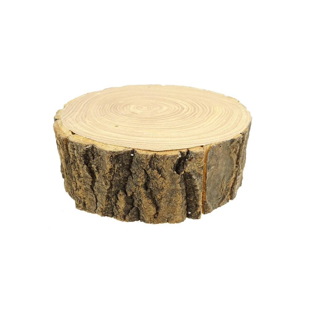 Rustic Wood Tree Slice with Bark, 6-1/2-Inch