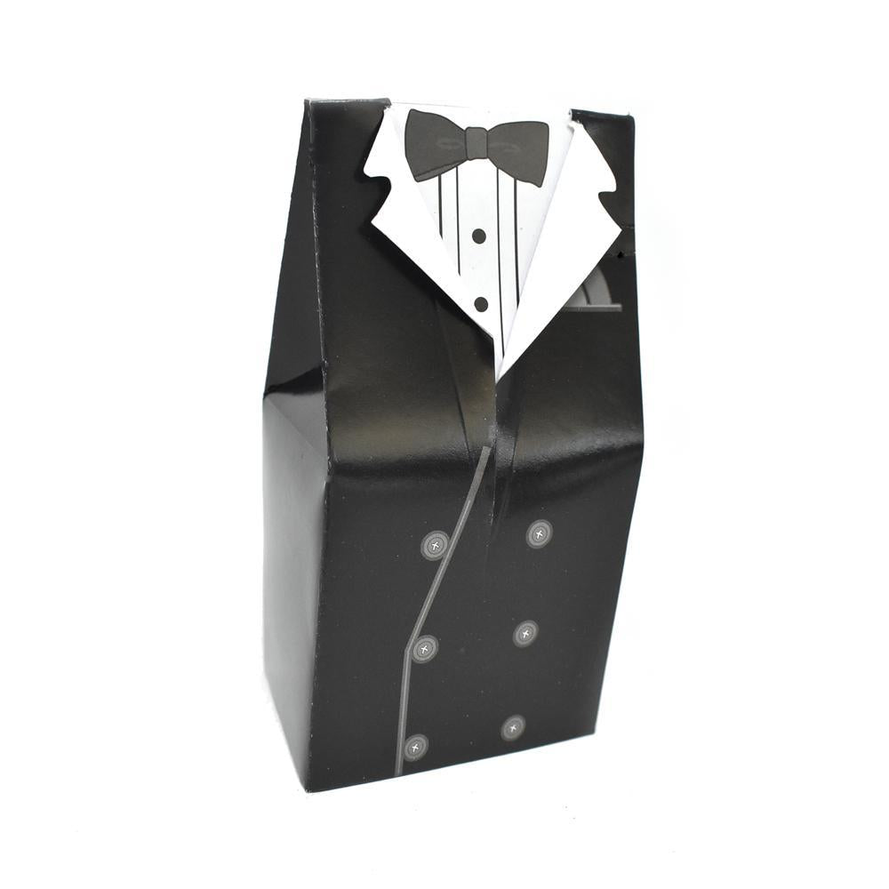 Tuxedo Favor Boxes, 4-3/4-Inch, 6-Count