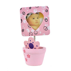 Heart Picture Frame in Flower Pot Favors, 4-Inch