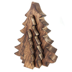 Wooden Nested Christmas Tree Puzzle, Brown, 7-3/4-Inch