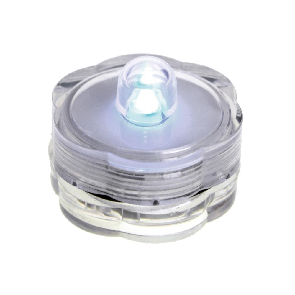 LED Floral Water Submersible Base Lights, 12-Piece, White