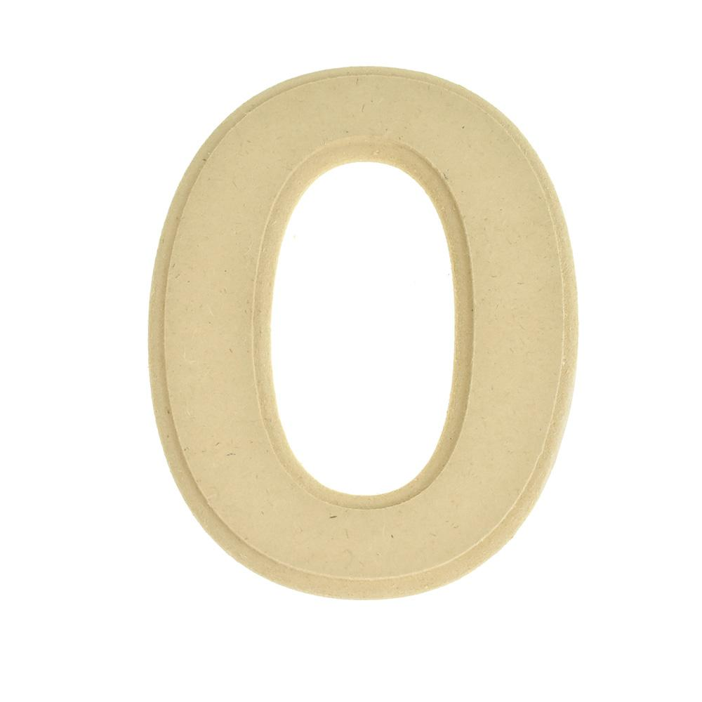 Pressed Board Beveled Wooden Letter O, Natural, 6-Inch