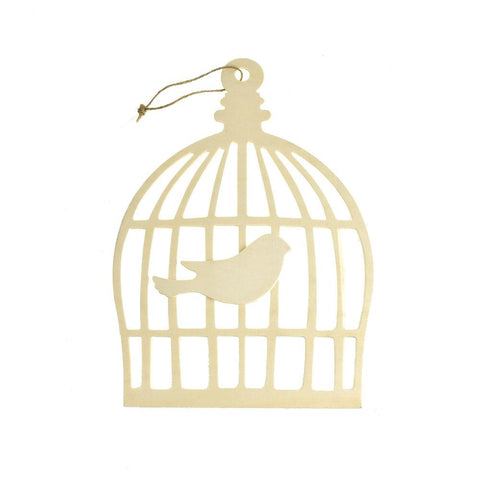 Bird Cage Chickadee Craft Wood Cut Out, 11-1/4-Inch