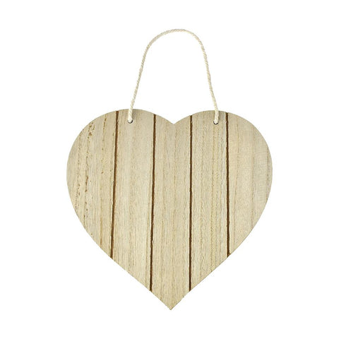 DIY Heart Slat-Wall Hanger Plaque With Nautical Rope, 7-3/4-Inch