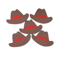 Small Cowboy Hat Wooden Favors, 1-1/2-Inch, 100-Count
