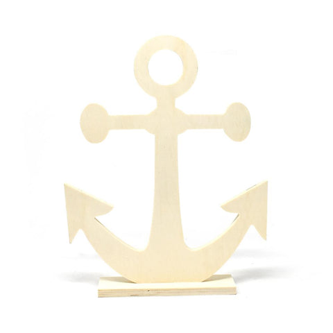 DIY Wood Craft Anchor Stand, 10-1/2-Inch