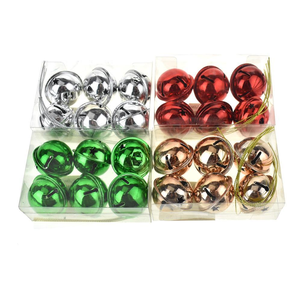Metal Christmas Jingle Bells, Assorted Colors, 24-Piece