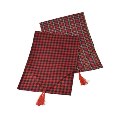 Christmas Buffalo Plaid Table Runners, 71-Inch, 2-Piece