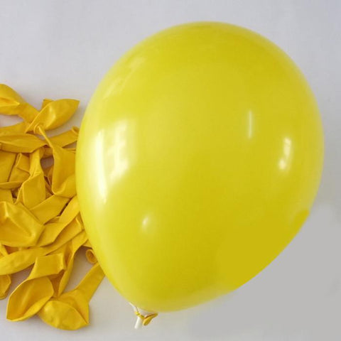 Latex Balloons Party Supplies, 12-inch, 12-piece, Yellow