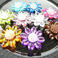 Sunflower Acrylic Crystal Flower, 1-3/4-inch, 6-Piece