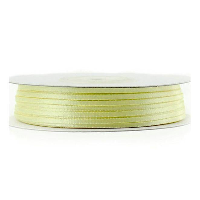 Double Faced Satin Ribbon, 1/16-inch, 100-yard, Baby Maize Yellow