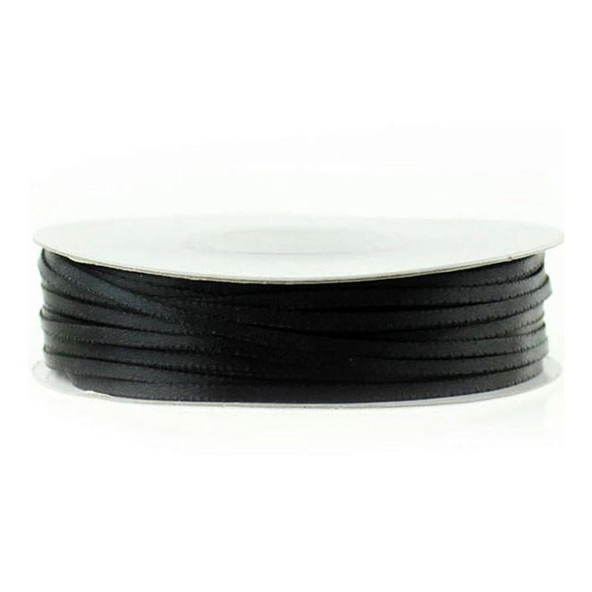 Double Faced Satin Ribbon, 1/16-inch, 100-yard, Black