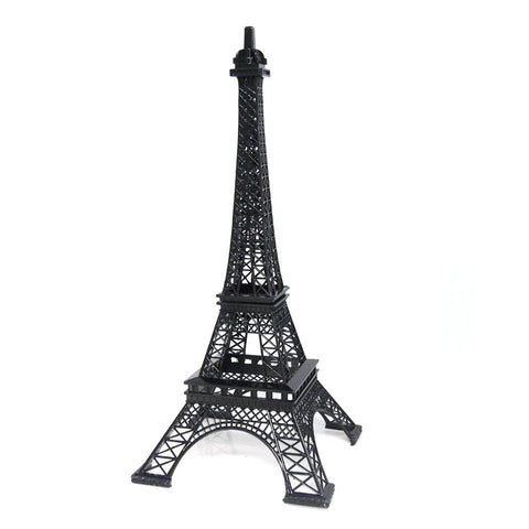 Metal Eiffel Tower Paris France Souvenir, 15-inch, Black