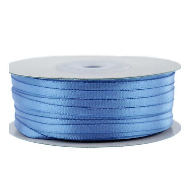 Double Faced Satin Ribbon, 1/8-inch, 100-yard, Blue Mist