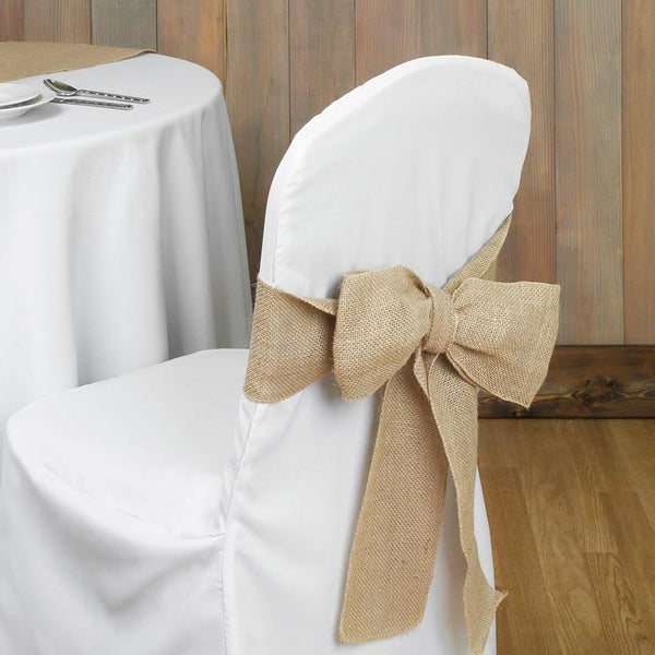 Wedding Burlap Bow Chair Sash Www Partymill Com