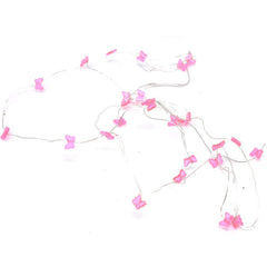 Butterfly Battery Operated Fairy String Lights, Pink, 10-Feet, 30 LED