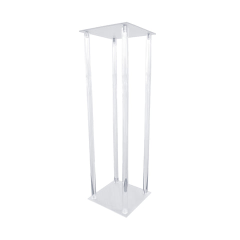 Acrylic Pillar Centerpiece Stand, Clear, 25-Inch