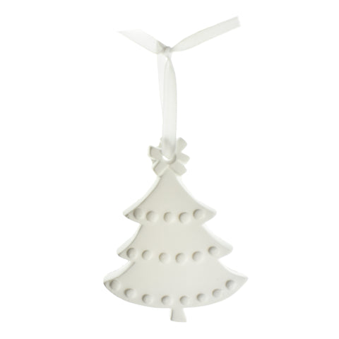 3D Plaster Christmas Tree DIY Ornament, 3-3/4-Inch