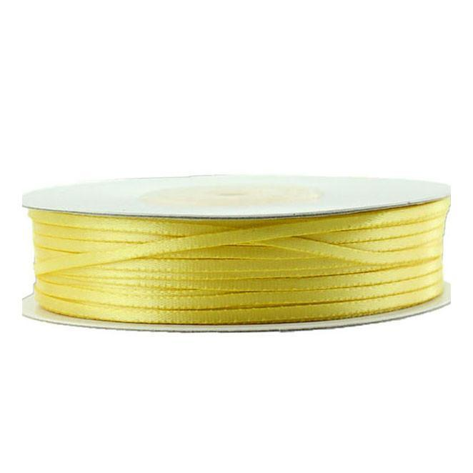 Double Faced Satin Ribbon, 1/16-inch, 100-yard, Canary Yellow