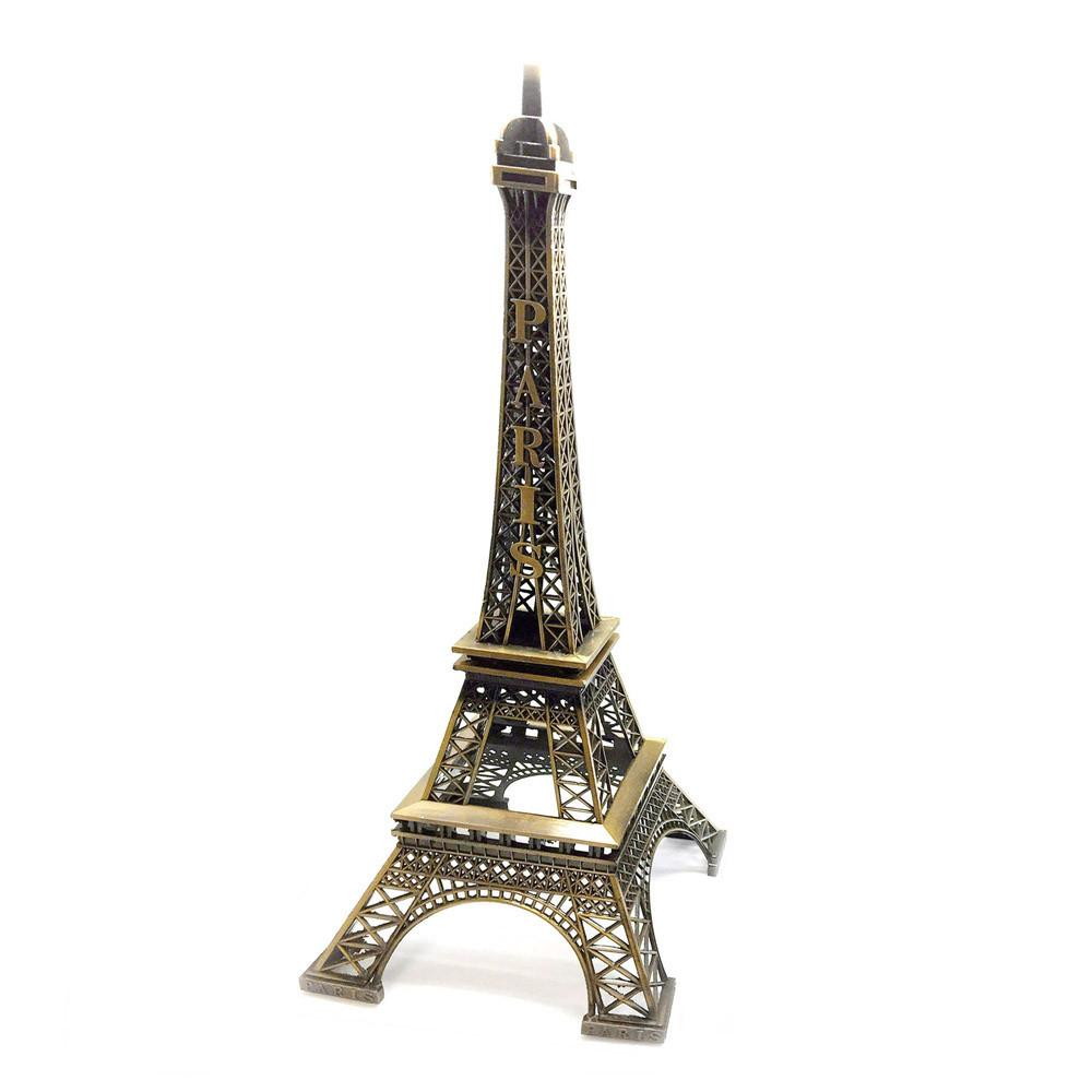 Metal Eiffel Tower Stand Paris France, 15-nch, Copper