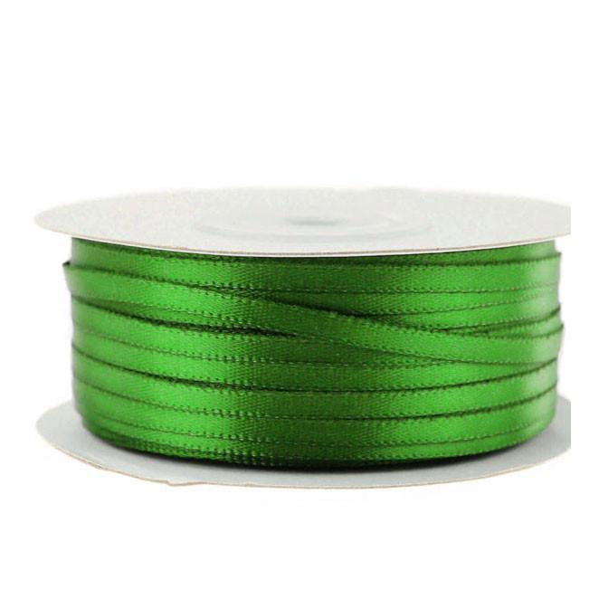 Double Faced Satin Ribbon, 1/8-inch, 100-yard, Emerald Green