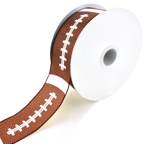 American Football Wired Ribbon, 2-1/2-Inch, 50-Yard