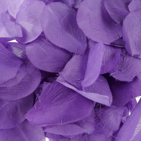Solid Faux Rose Petals Table Confetti, 400-Piece, Purple