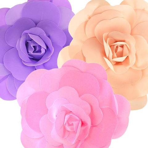 Rose Foam Wall Flowers, Assorted Sizes, 2 Piece