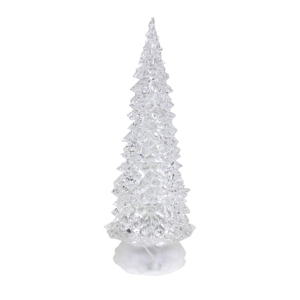 acrylic christmas tree led light multi color 12 inch