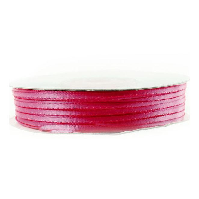 Double Faced Satin Ribbon, 1/16-inch, 100-yard, Hot Pink