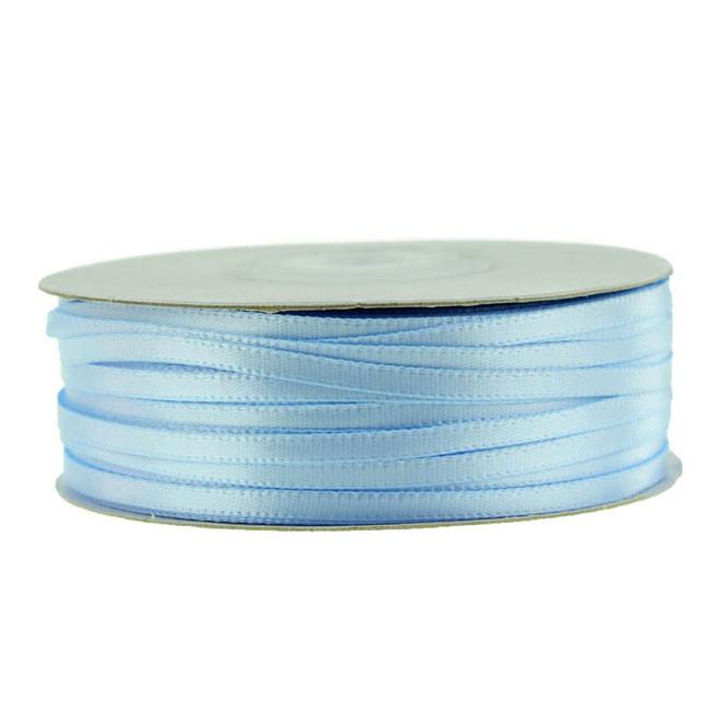 Double Faced Satin Ribbon, 1/8-inch, 100-yard, Light Blue