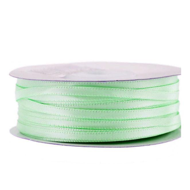 Double Faced Satin Ribbon, 1/8-inch, 100-yard, Mint Green