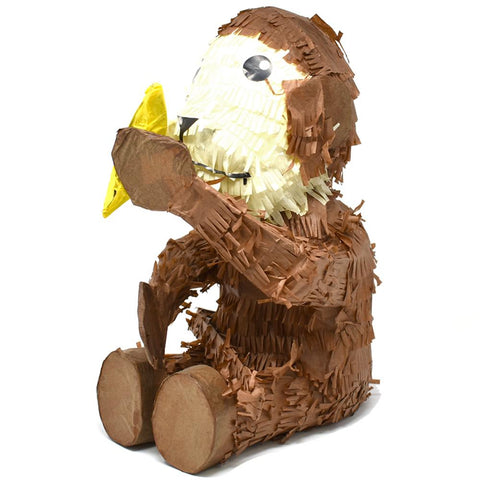 Monkey with Banana Pinata, Brown, 15-1/2-Inch