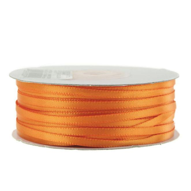 Double Faced Satin Ribbon, 1/8-inch, 100-yard, Orange