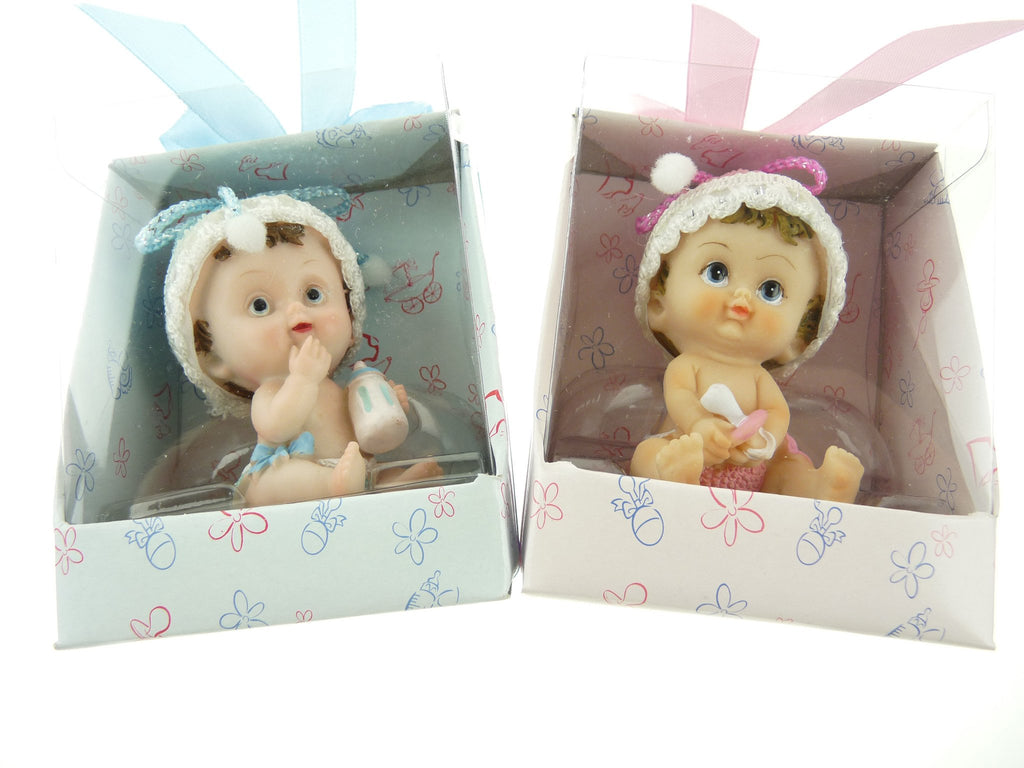 Baby Favors Souvenir, 3-1/2-Inch, Cute Baby, Light Pink